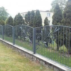artystyczne ozdobne metalowe ogrodzenie