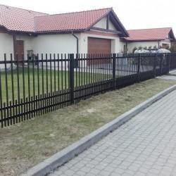 metalowe ogrodzenie posesji