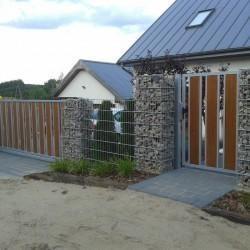 ogrodzenia metal drewno