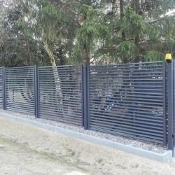 ozdobna metalowa brama 001