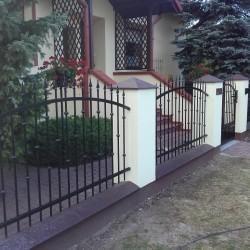 ozdobne metalowe ogrodzenie posesji