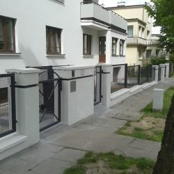 ozdobne ogrodzenie metalowe z furtką