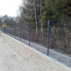 siatka metalowe ogrodzenie terenu